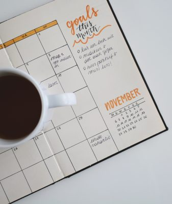coffee on calendar